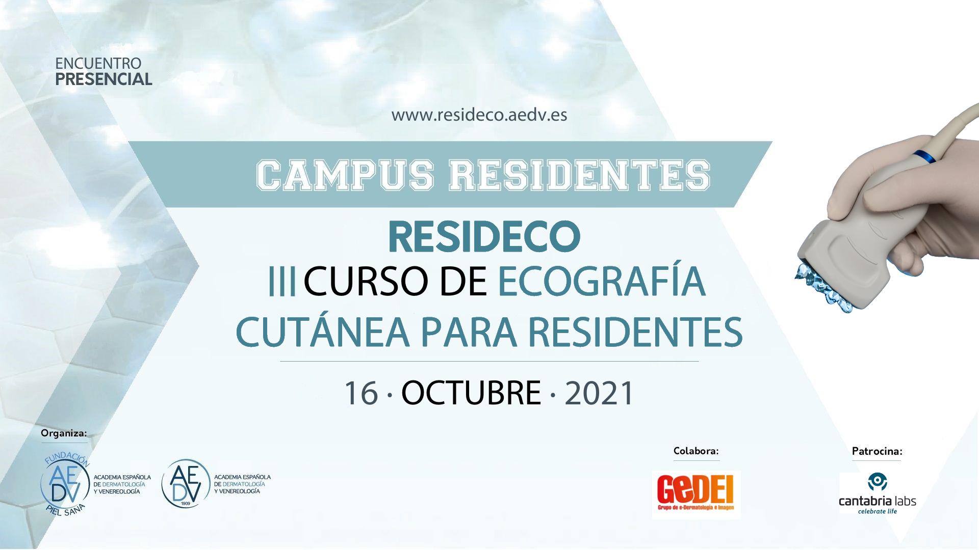 CURSO DE ECOGRAFÍA CUTÁNEA 2021